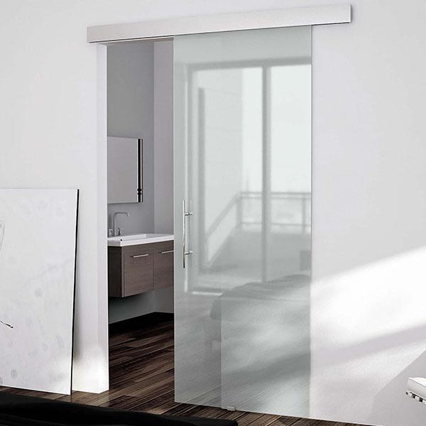 Puertas correderas de vidrio con gu a vista aluminis j - Puertas correderas vidrio ...